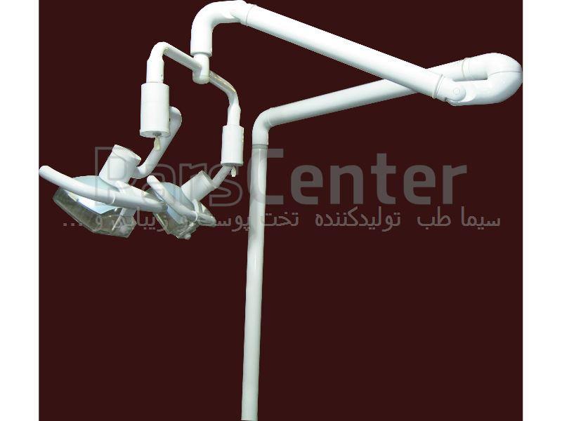 چراغ جراحی دو شعله هالوژن مدل HE2