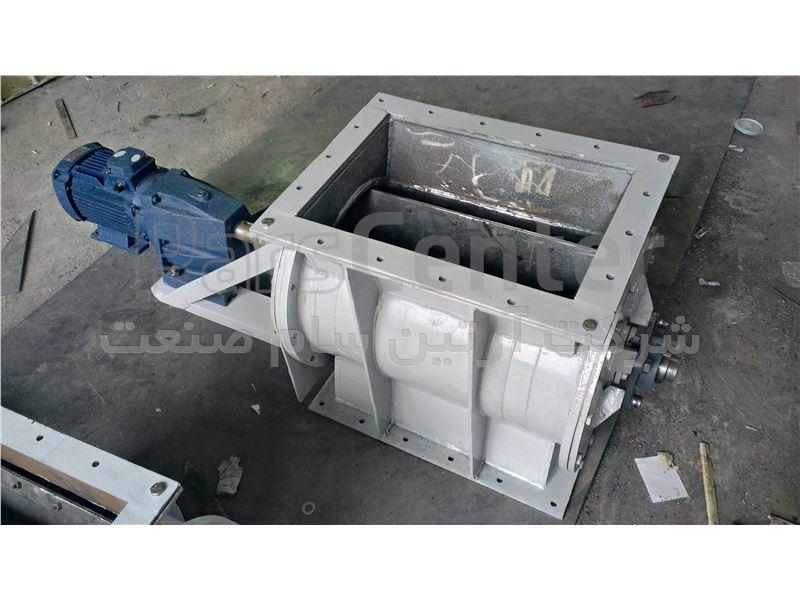 شیر دوار 16 اینچ ورودی خروجی چهارگوش
