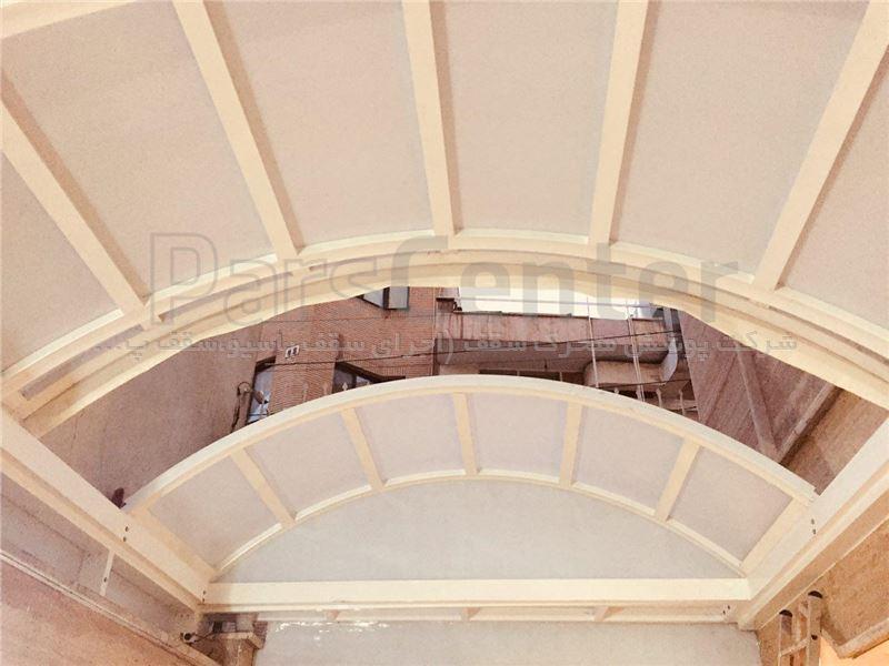 سقف پاسیو ثابت حیاط خلوت با دو پنل بازشو (میدان سپاه)