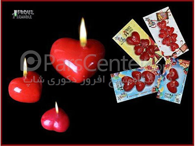 شمع مدل قلبی