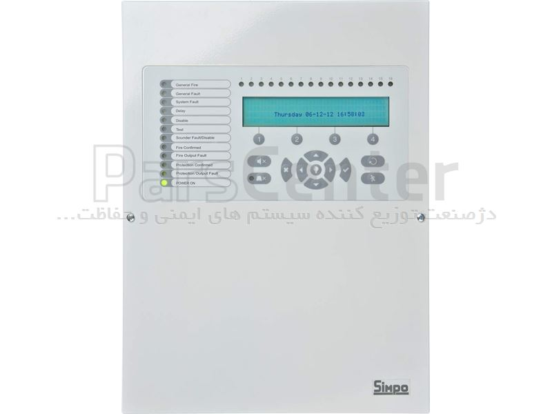 پنل اعلام حریق آدرس پذیر با نمایشگر LCD مدل SIMPO