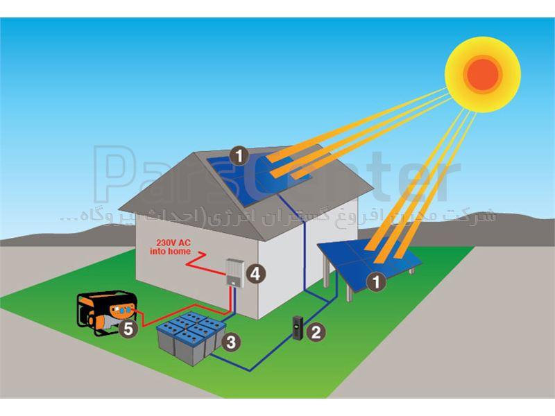 برق خورشیدی 2500 وات offgrid