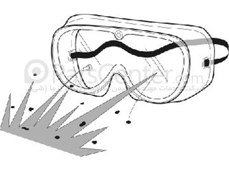 عینک ایمنی گاگل محافظ در برابر پاشش مواد بیولوژیکی به چشم مدل G100