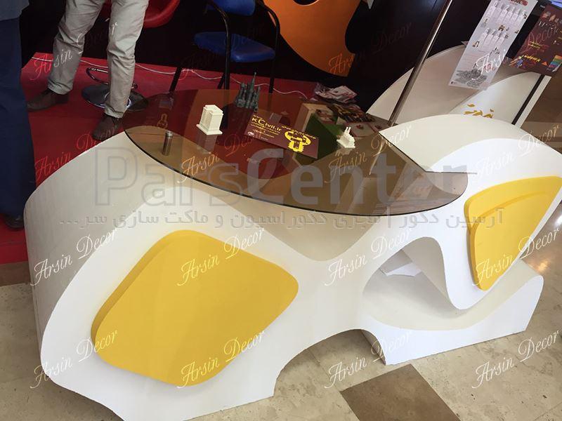 میز دکوراتیو با متریال یونولیت ویژه ماکت سازی