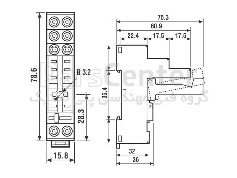 سوکت مدل 95.05 فیندر(finder) ریلی