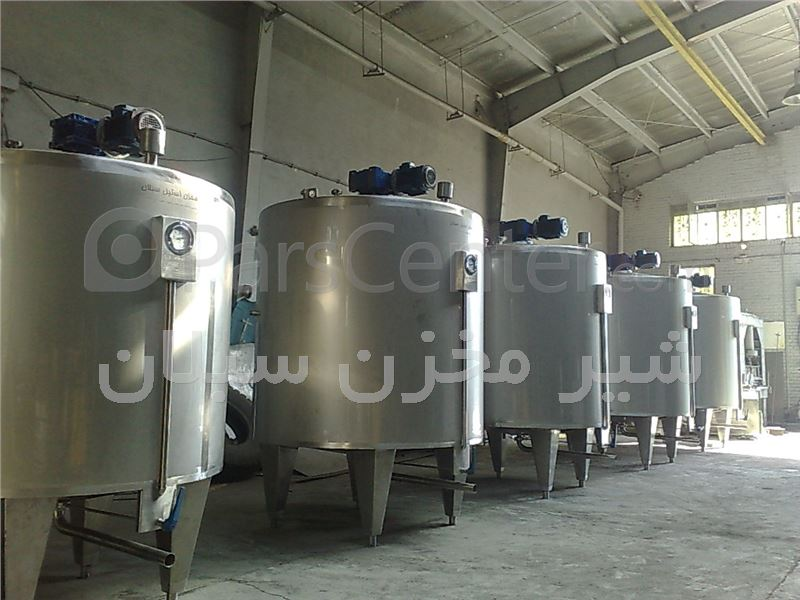 مخازن استیل ذخیره شیر خام  شیر مخزن سبلان