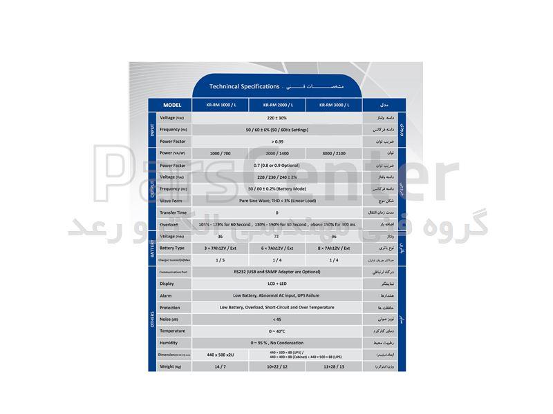 فروش یو پی اس آلجا مدل KR 1000-S