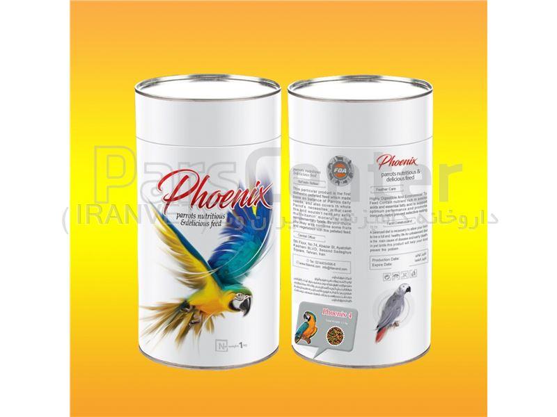 فونیکس4 ( خوراک پلت مخصوص طوطی های آمازون، ماکائو )