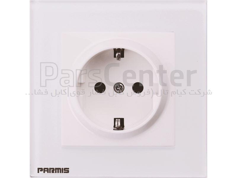 پریز هوشمند برق پارمیس با پنل شیشه ای ضد خش