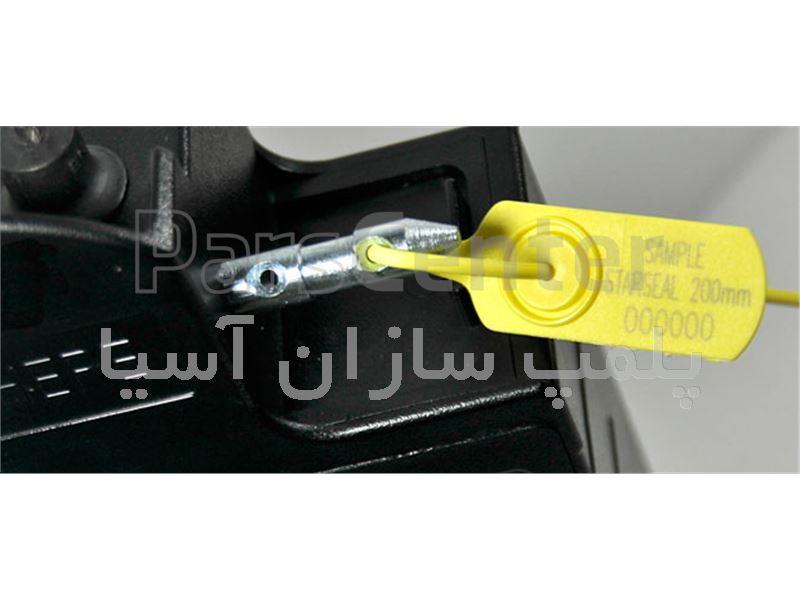 پلمپ تسمه ای پلاستیکی با قفل فلزی و تسمه باریک استاندارد درب جعبه ها