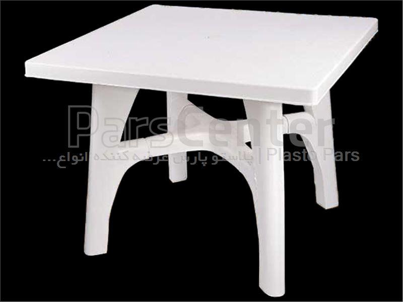 میز فایبرگلاس مربع 4 نفره 85*85 کد 101122