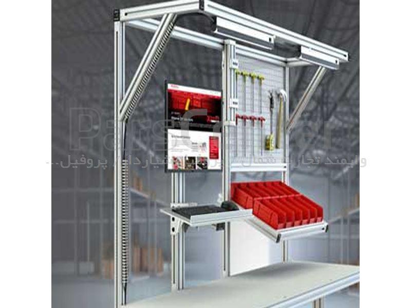 دریافت سفارش ساخت میزهای مونتاژ با پروفیل آلومینیوم مهندسی