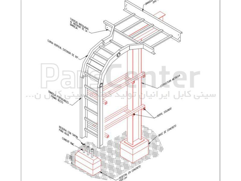 نردبان کابل شبکه (نردبان کابل ایرانیان)