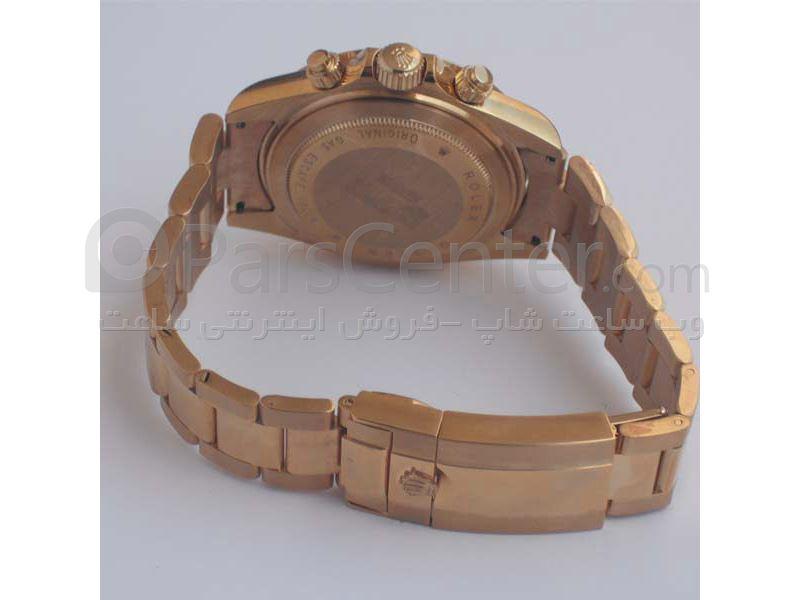 ساعت رولکس high copyمدل  DAYTONA- شیشه ضد خش -بند استیل- رنگ صفحه مشکی-رنگ بند  طلایی-