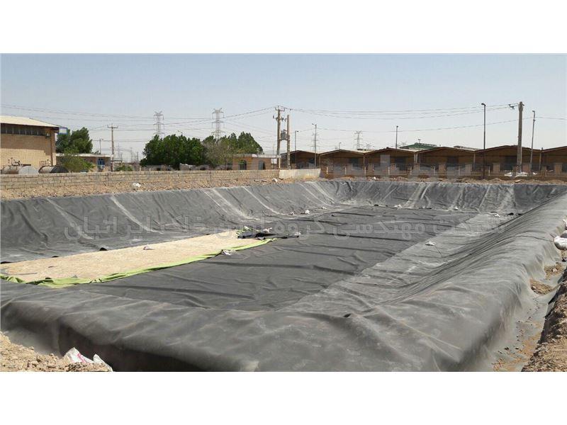 آب بندی استخر ذخیره سیالات با ورق ژئوممبران، الکل سازی خرمشهر