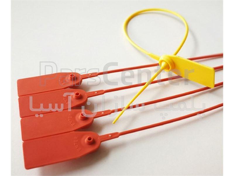 پلمپ پلاستیکی با قفل فلزی و تسمه باریک استاندارد سرکیسه ها