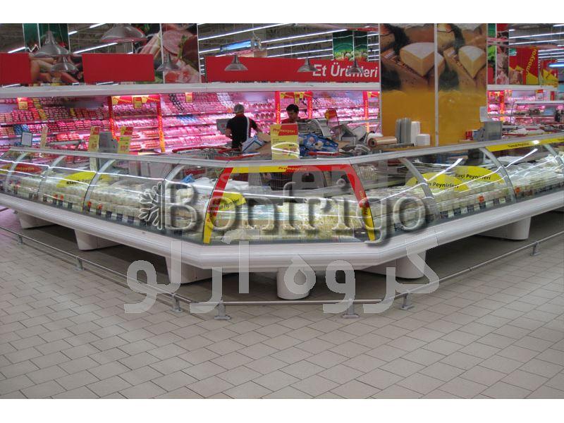 یخچال شیشه خم فروشگاهی،یخچال مدل جزیره