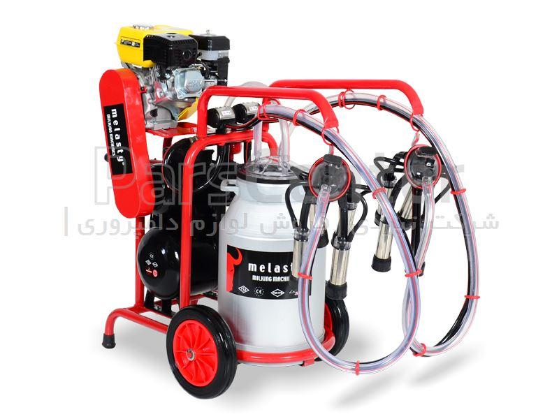شیردوش سیار بنزینی گاودوش - دو واحد تک بیدون - قرمز