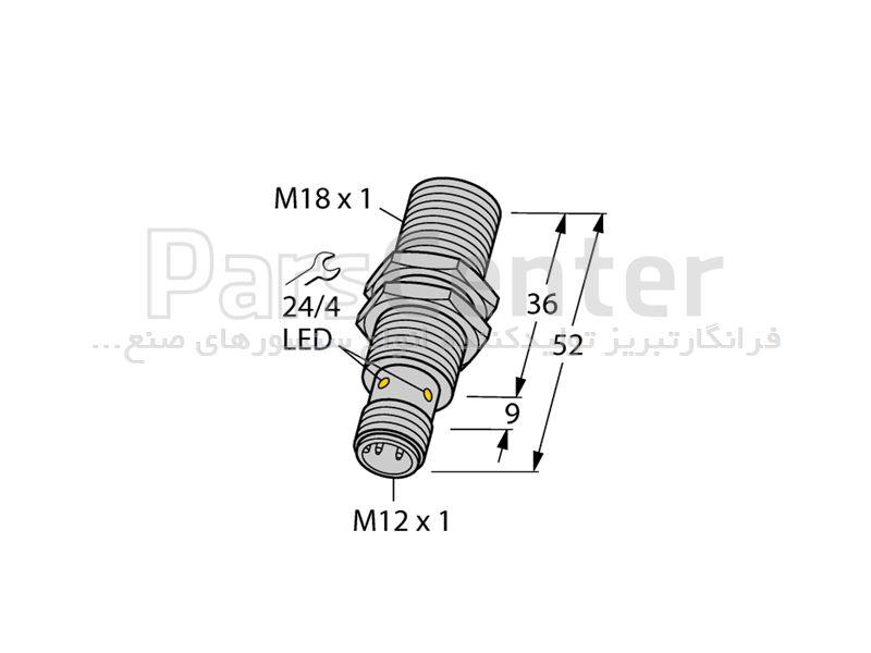 سنسورالقایی BI8-M18-AP6X-H1141 ساخت شرکت Turck آلمان