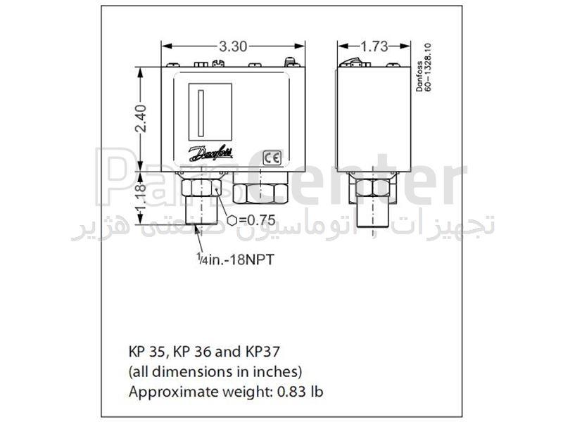 فروش پرشر سوئیچ دانفوس  danfoss pressure switch