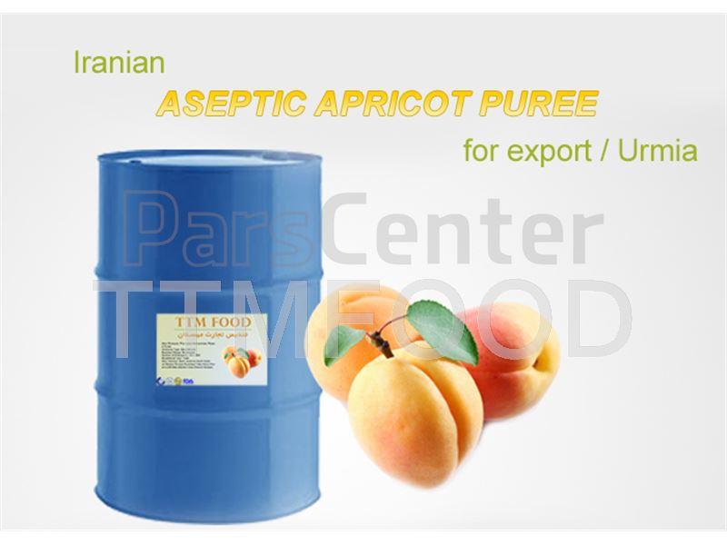پوره زردآلو بسته بندی شده در بشکه های 220 کیلوگرمی