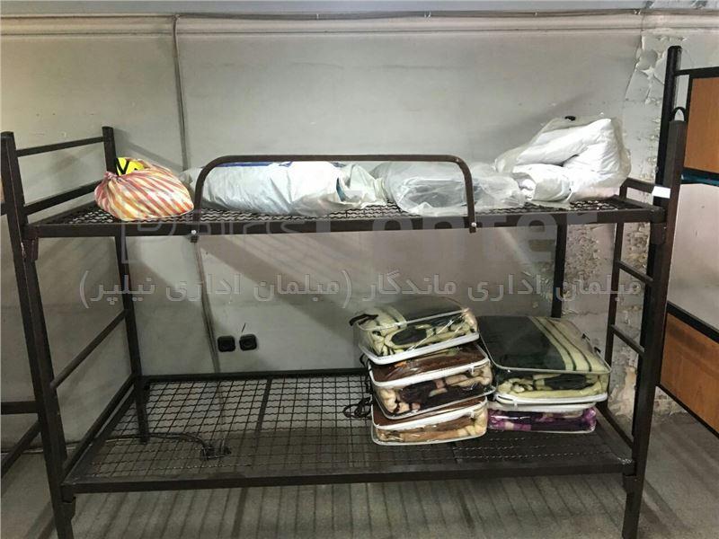 تخت خواب فلزی دو طبقه خوابگاهی
