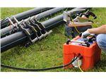 انجام جوشکاری بات فیوژن لوله های پلی اتیلن پروژه های آبیاری- آبرسانی با دستگاه جوش تمام هیدرولیک