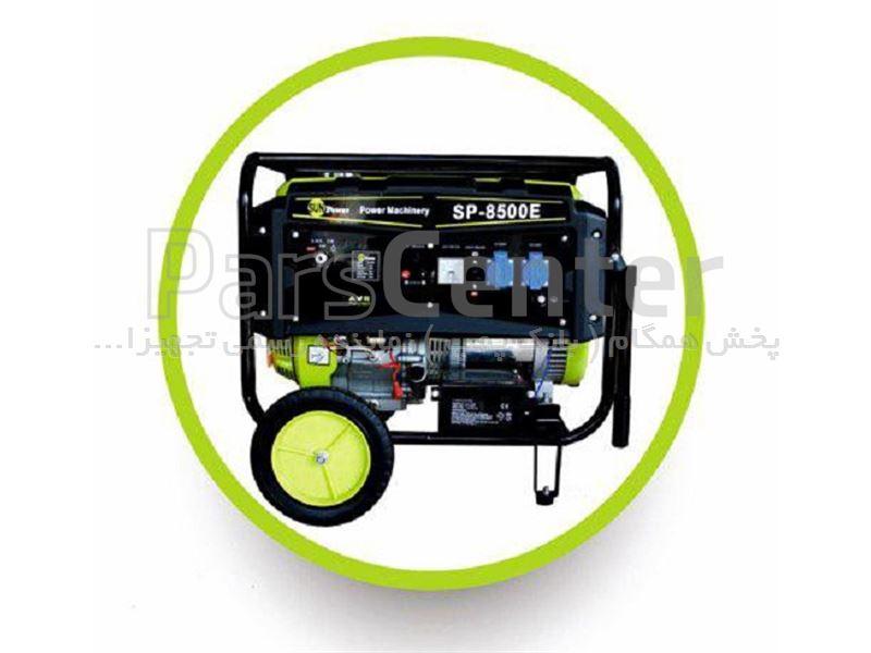 موتور برق 5.5 کیلووات بنزینی استارتی sunpower مدل SP 8500E