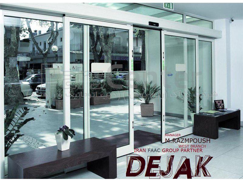 درب شیشه ای اتوماتیک فک مدل A140