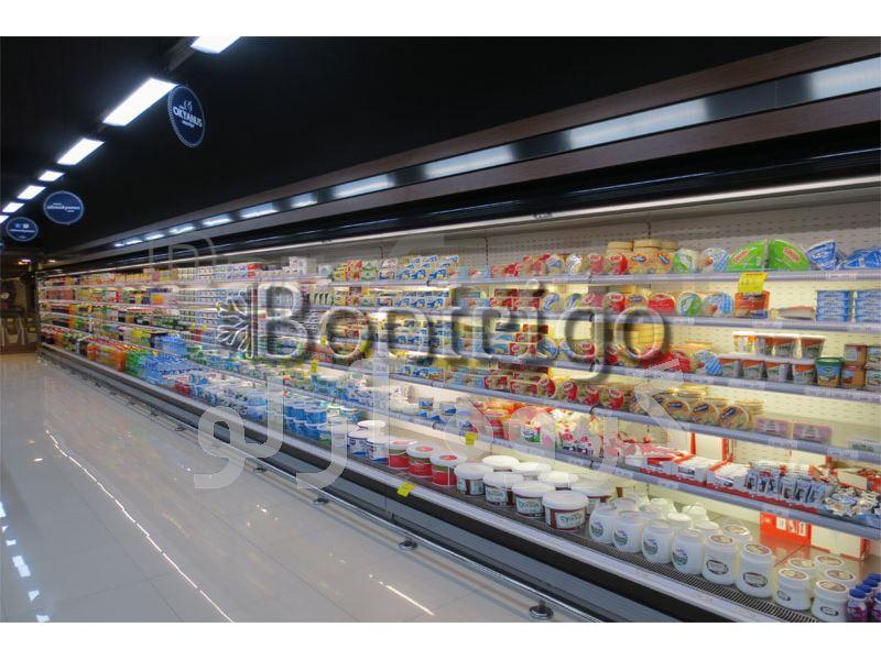 یخچال روباز فروشگاهی،یخچال ایستاده پرده هوا