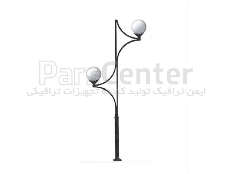 چراغ پارکی دو شاخه مدل ITL-202