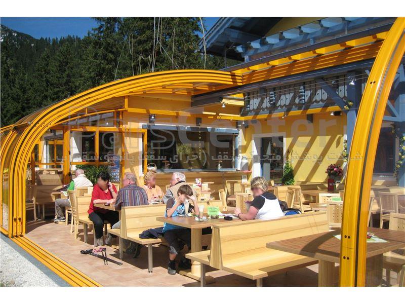 سازه با طراحی تلسکوپی برای رستوران و کافه