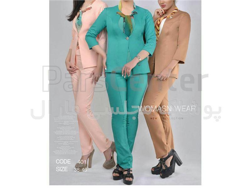 کت شلوار کراواتی زنانه سایز 40