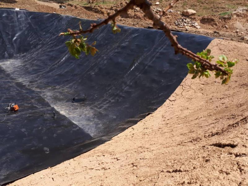 ساخت استخر کشاورزی با ورق ژئوممبران - هشتگرد