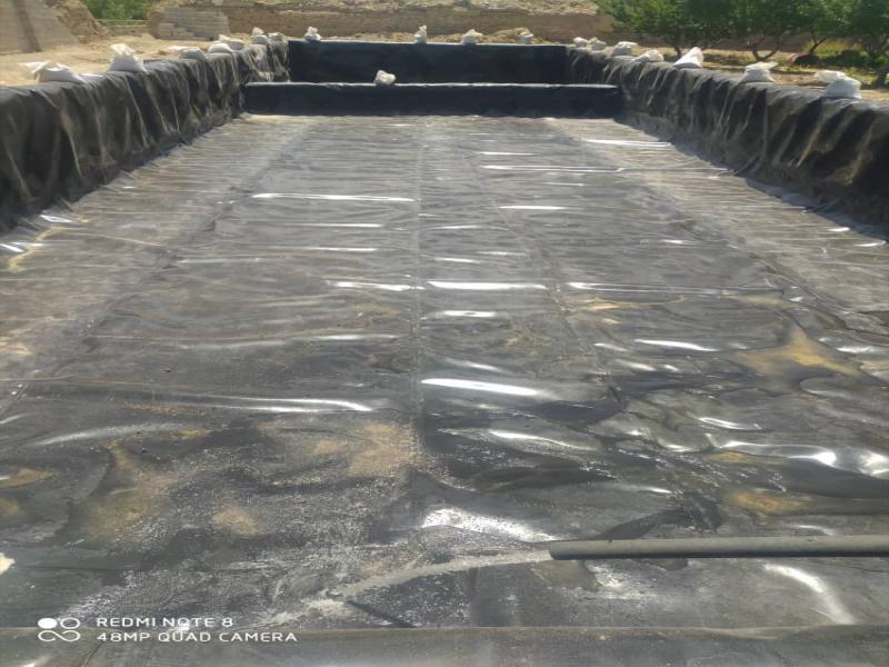 ساخت استخر ذخیره آب کشاورزی - ساوه