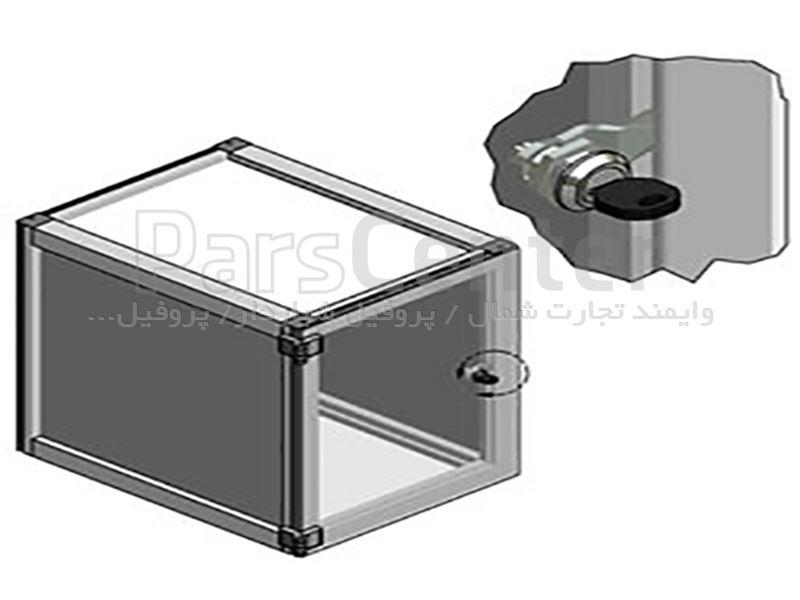 قفل برای درب کابینت های صنعتی با پروفیل شیاردار صنعتی