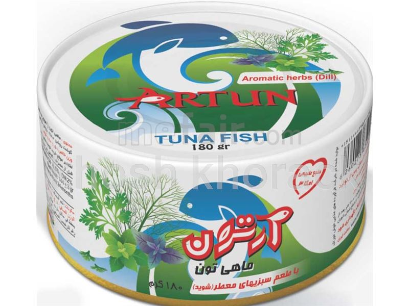 Canned tuna flavored with aromatic herbs (Dill)