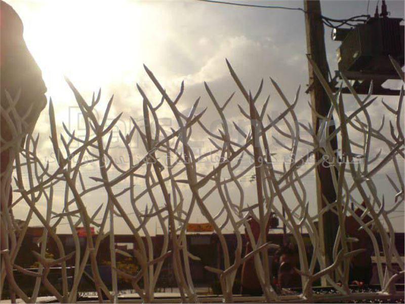 حفاظ شاخ گوزنی کرمی مدل 100*50