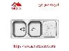 سینک ظرفشویی توکار کد 214 استیل البرز