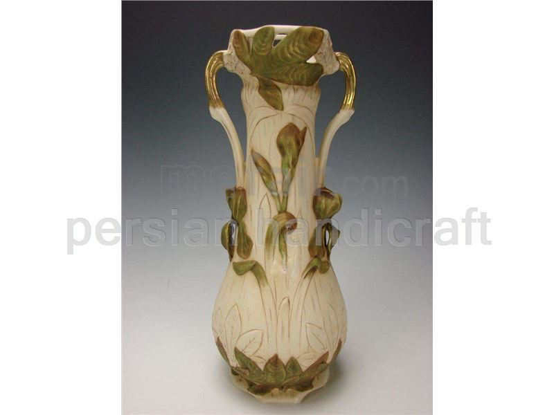 Vase with handles made of pottery with a height of 30 cm