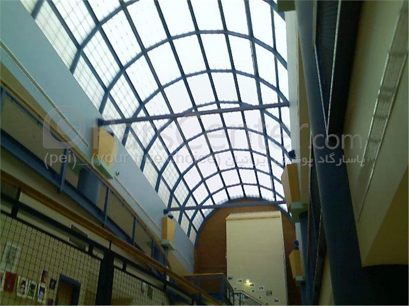 Building skylight _ نورگیر ثابت سقف مرکز خرید