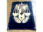 پتو مینک با آرم قوه قضائیه (زندانها) آبی رنگ طاهربافت