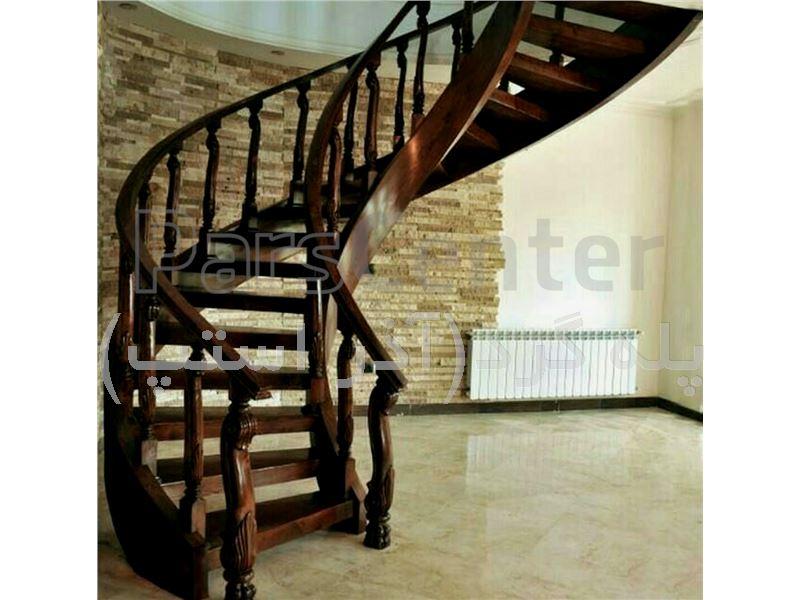 پله گرد دو محور باکس -پله پیچ،پله گردون،