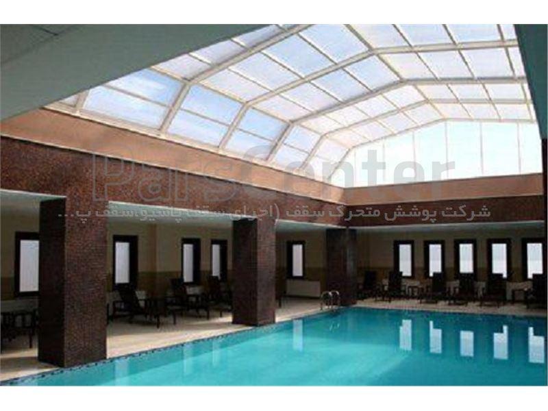 پوشش سقف استخر مدل 6 ضلعی متحرک کد E01