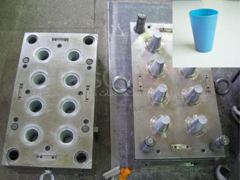 ساخت قالب تزریق پلاستیک لیوان درب دار آیس پک