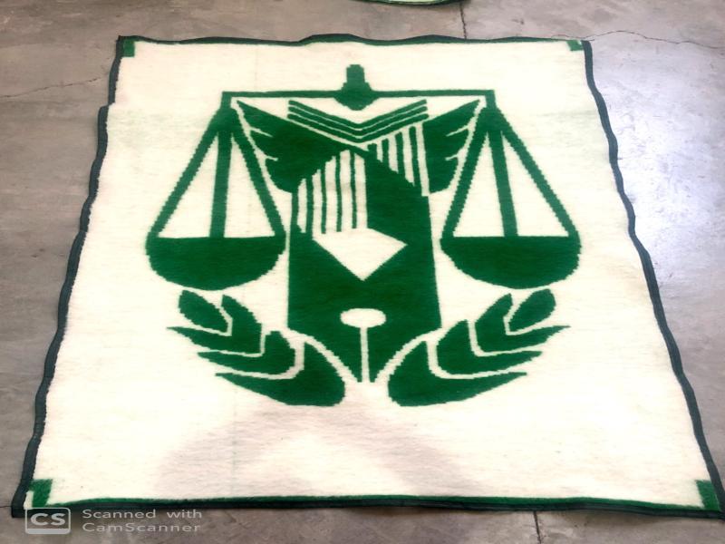 پتو مینک با آرم قوه قضائیه (زندانها) سبز رنگ طاهربافت