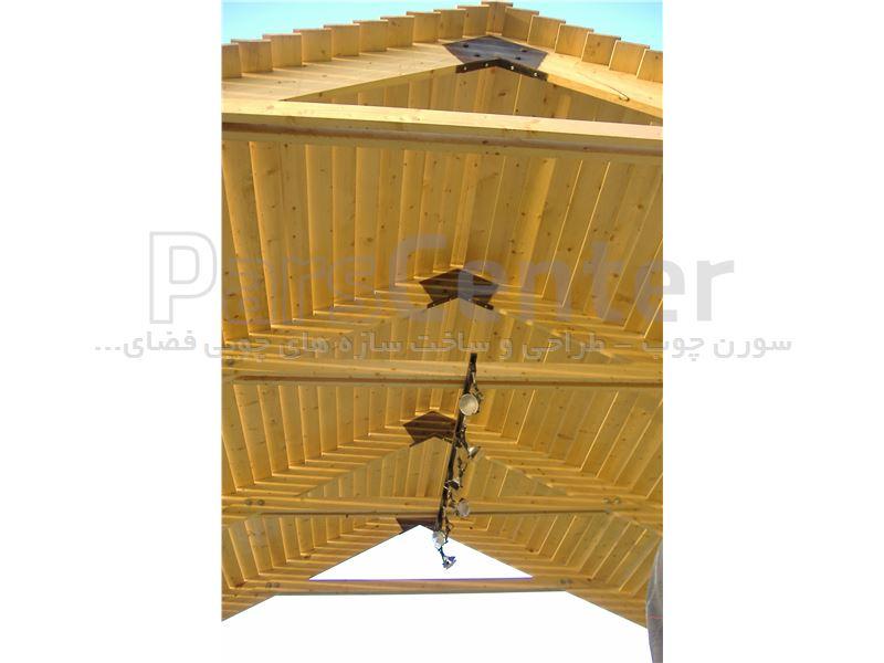آلاچیق چوبی با سقف 2شیب