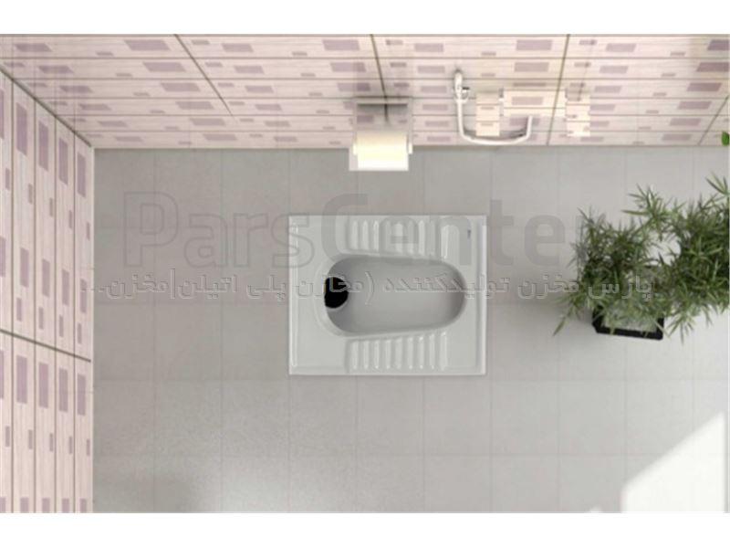 توالت زمینی مدل نیلوفر گلسار فارس