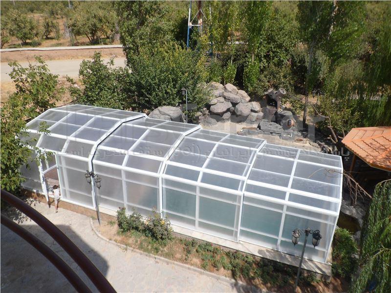 سقف متحرک  استخر شناء - دماوند - روستای زان