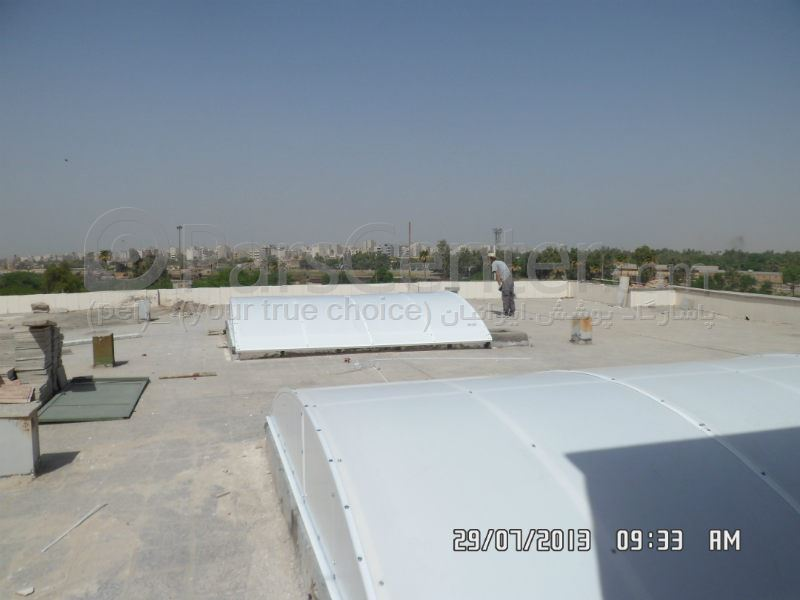 Building skylight _ نورگیر ساختمان استانداری اهواز